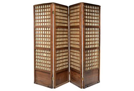 Mother-of-Pearl Rosewood Screen