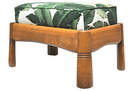Haywood Wakefield Palm Leaf Footstool