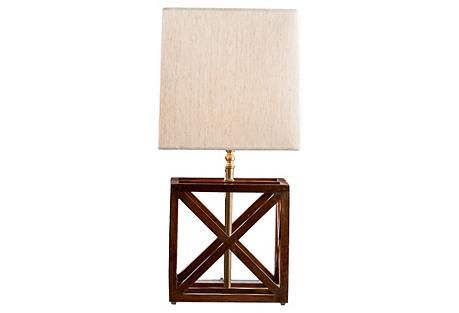 French Geometric Lamp Base