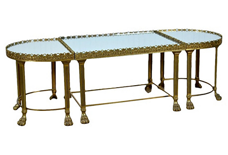Italian 3-Piece Coffee Table