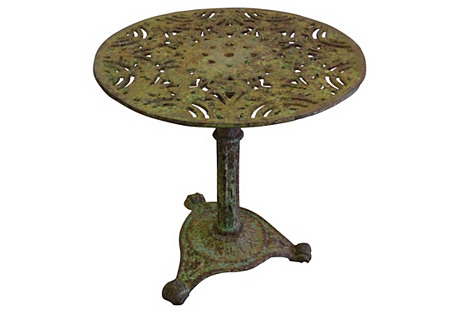 French Metal Garden Table
