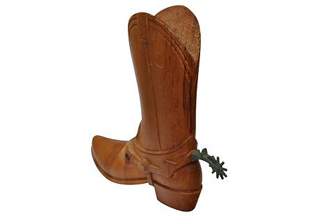 Wood Cowboy Boot