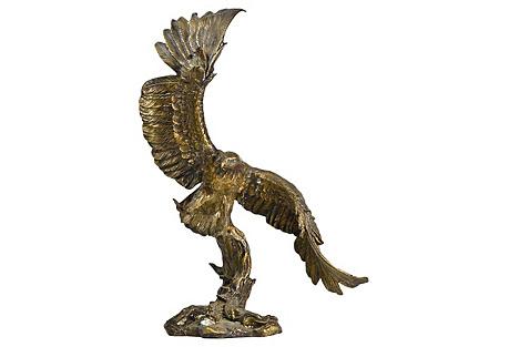 Spelter Eagle in Flight