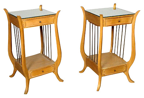 Regency-Style Side Tables, Pair