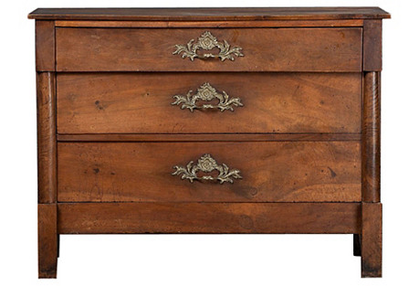 French Empire-Style Walnut Chest