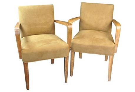 Mid-Century Modern Armchairs, Pair