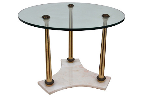 Marble & Glass Side Table
