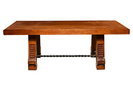 Art Deco Wood Dining Table