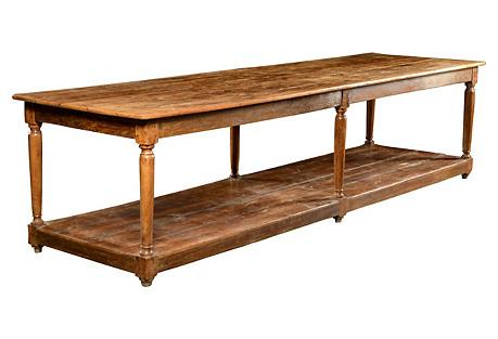 Cherry & Oak Kitchen Work Table
