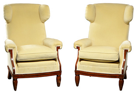 Pullman Wing Chairs, S/2
