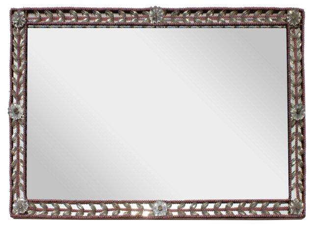 Pink-Framed Mirror