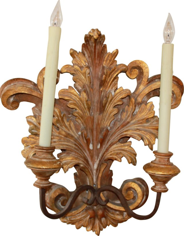 Gilded Sconce