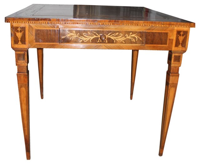 19th-C. Italian Inlaid Game Table