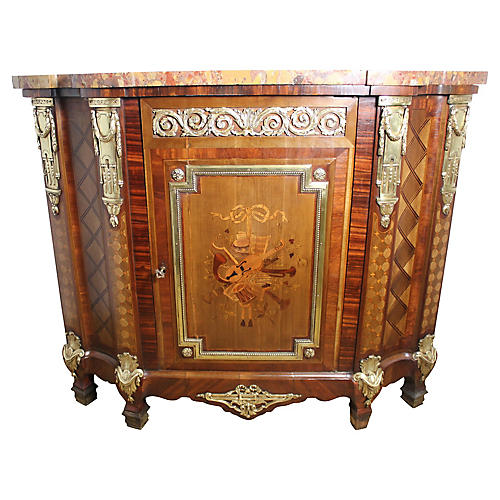 French Napoleon III Marquetry Cabinet
