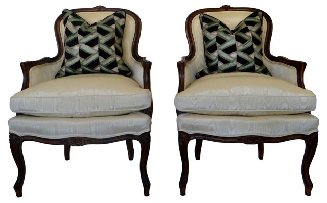 French-Style Bergères by Century, Pair