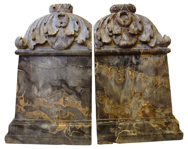 Gilded Age Marble Pieces, Pair