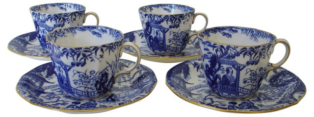 Royal Crown Derby Cups & Saucers,  S/4