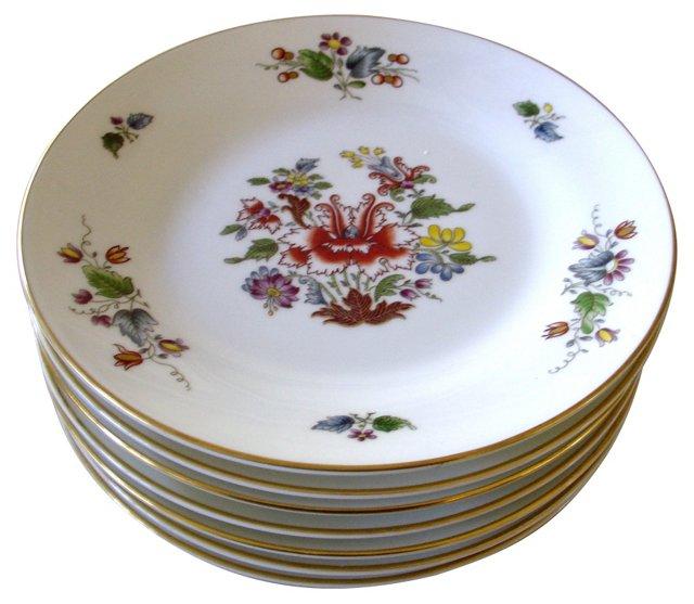 Richard Ginori Floral Plates, Set of 7