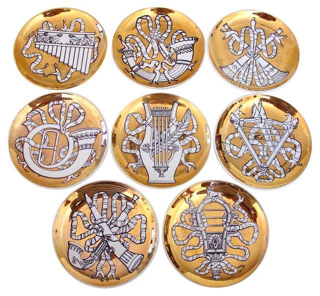 Fornasetti Musicalia Coasters, Set of 8