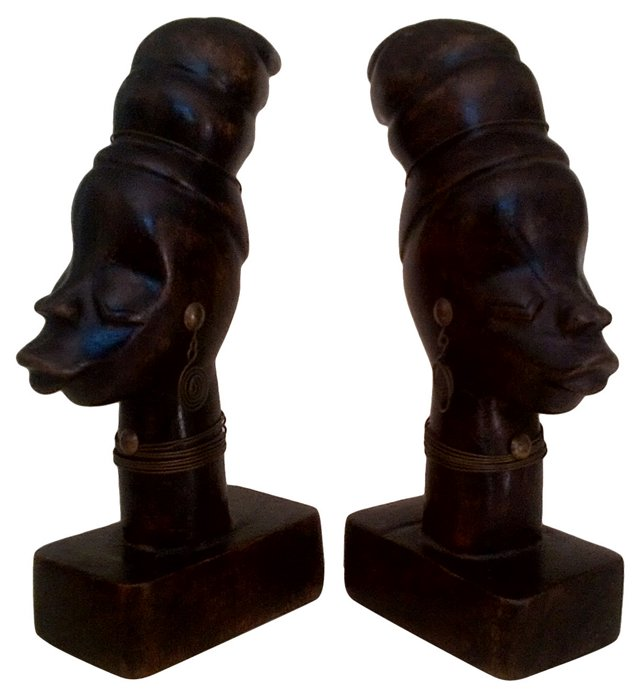 African Busts,  Pair
