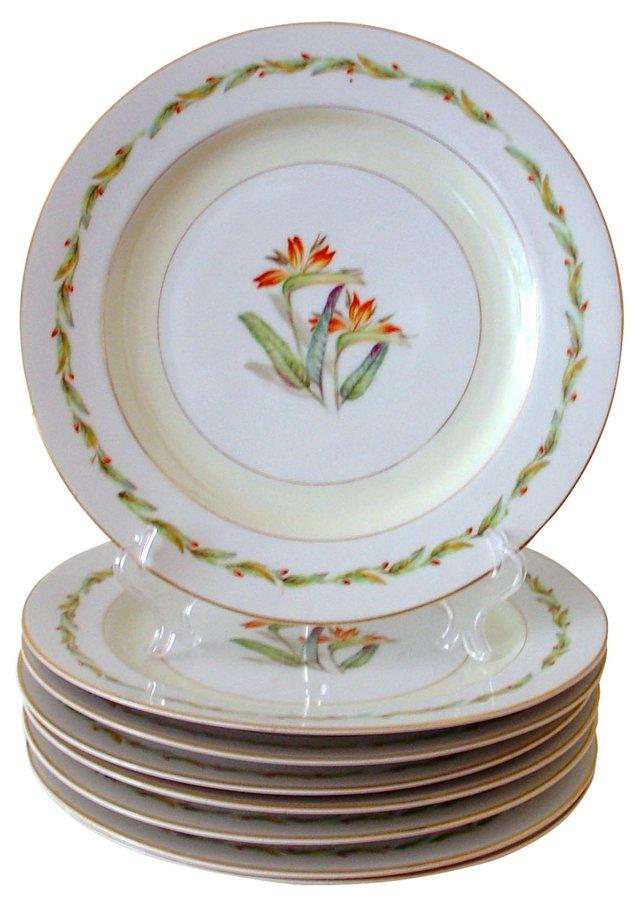 Bird-of-Paradise Plates, S/8