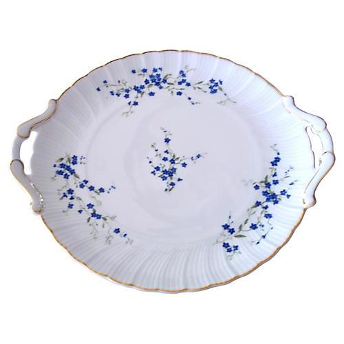 Bernardaud Myosotis Cake Plate