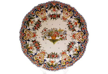 French Faience Wall Plate