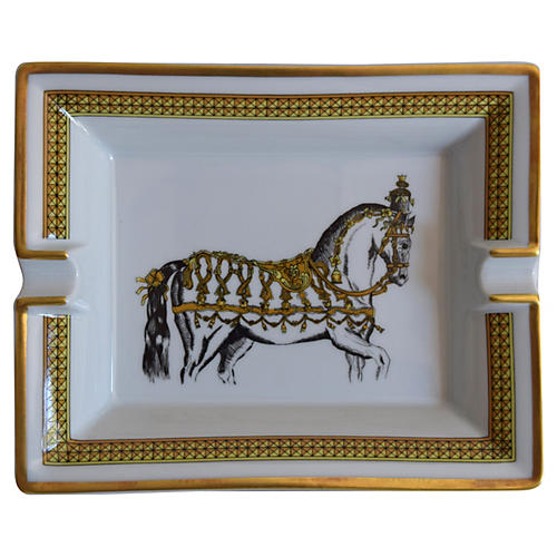 Hermès France Regal Horse Cigar Ashtray