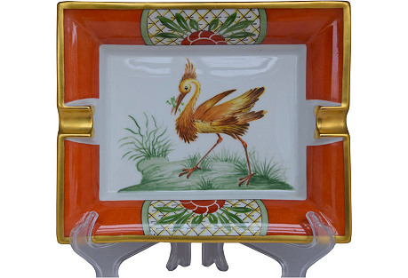 Hermès Exotic Bird Cigar Ashtray