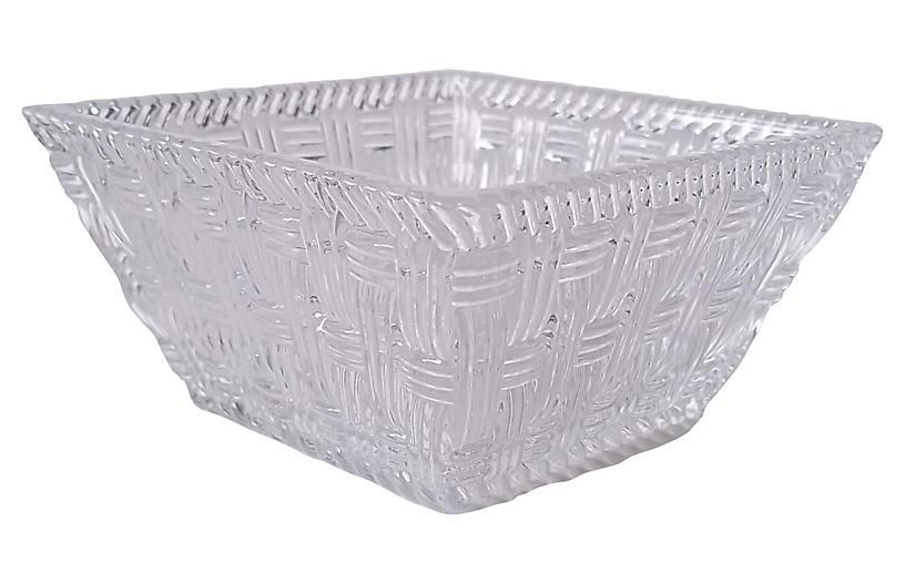Tiffany & Co. Woven Crystal Bowl