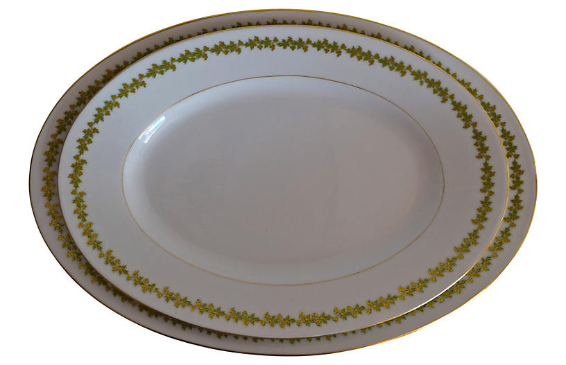 Limoges Oval Platters, Pair