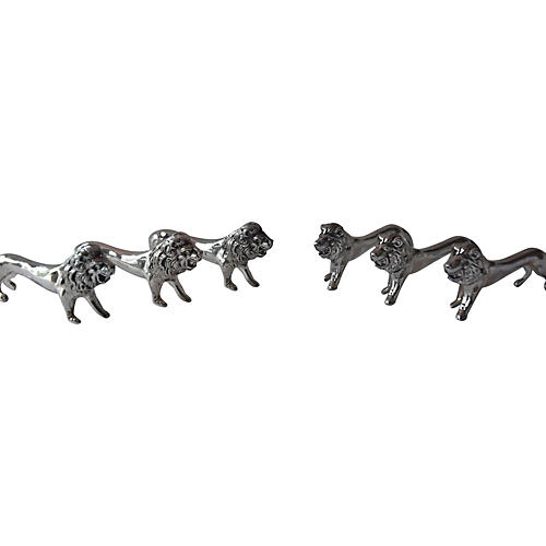French Lion Knife Rests, S/6