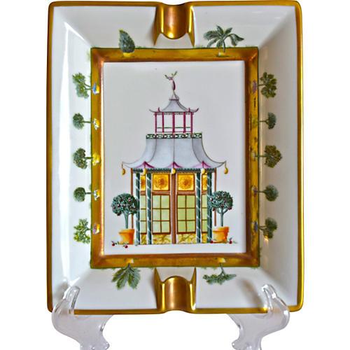 Hermès Orangerie Ashtray w/ Original Box