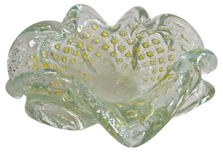 Murano Gold Ashtray