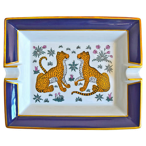 Hermès Cheetahs Cigar Ashtray w/ Box