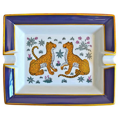 Hermès Cheetahs Cigar Ashtray w/ Box