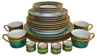 Christian Dior Malachite Set 24-Pcs - Dinnerware Sets - Dinnerware - Tabletop - Decor \u0026 Entertaining | One Kings Lane  sc 1 st  One Kings Lane & Christian Dior Malachite Set 24-Pcs - Dinnerware Sets - Dinnerware ...