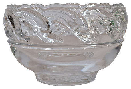 Tiffany & Co. Crystal Dolphin Bowl