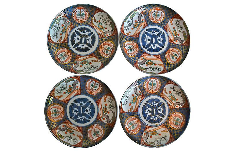 Imari Plates, Set of 4