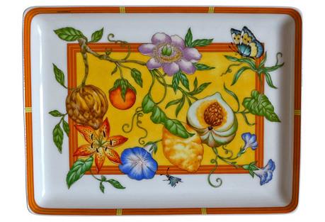 Hermès Orange Siesta Tray w/ Box