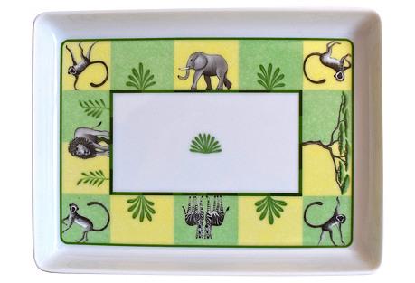 Hermès Green Africa Tray