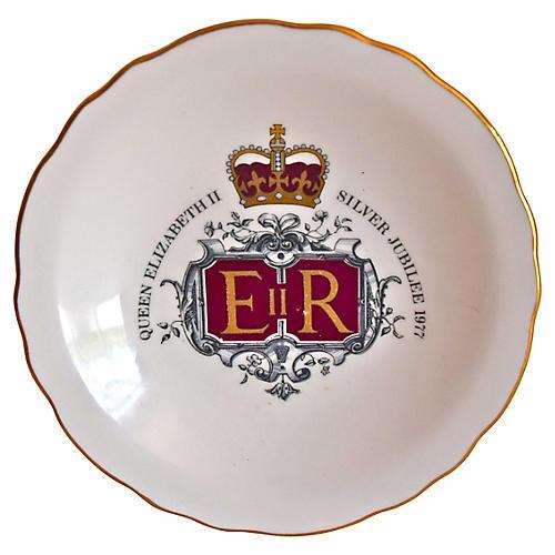 Queen Elizabeth Silver Jubilee Tray