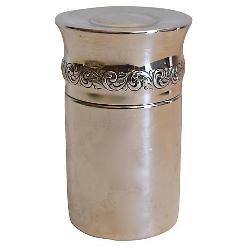 Sterling Silver Tea Caddy