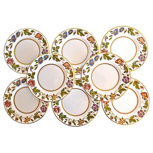 Royal Worcester Floral Plates, Set of 8