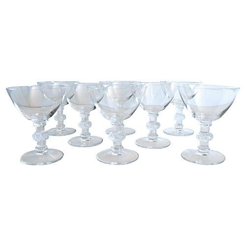 Lalique Saint Hubert Cocktail Glasses, 8
