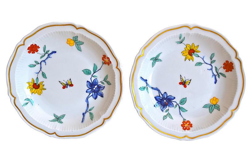 Haviland Limoges Floral Dishes, S/2