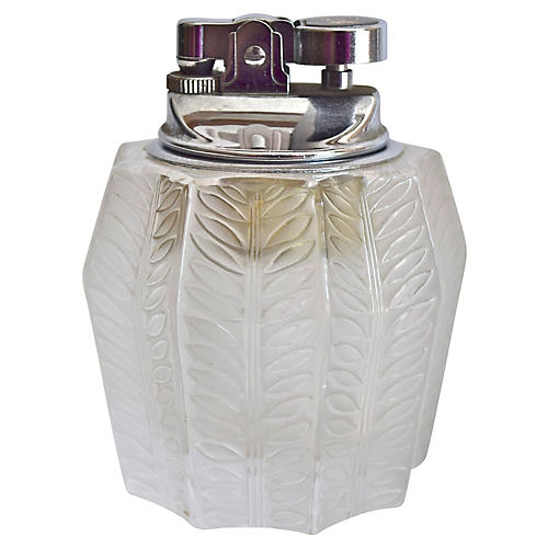 Lalique French Crystal Jamaique Lighter