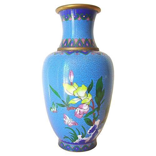 Blue Cloisonné Vase