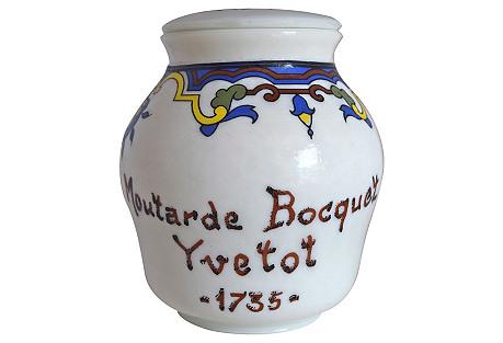 French Mustard Jar w/ Lid