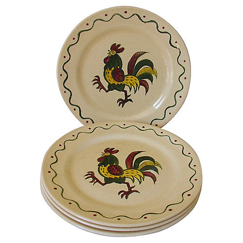 Rooster Plates, S/4